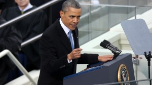 President Obama speakng at Second Inaugural Address