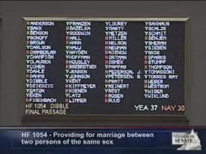 Minnesota marriage equality roll call