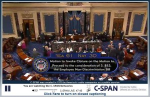 ENDA Senate cloture vote