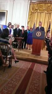 President Obama speaks before signing executive order. Attribution: Scottie Thomaston